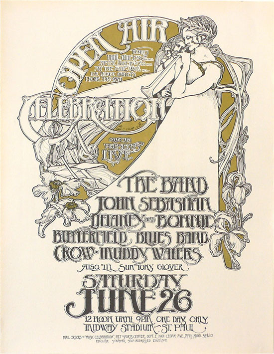 The Band – Muddy Waters – Butterfield Blues Band – 1971 Concert Poster