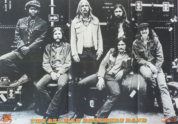 The Allman Brothers Band Japanese At Fillmore East White