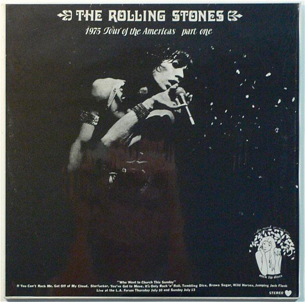 Rolling Stones Splatter Vinyl 1975 Tour Of The Americas
