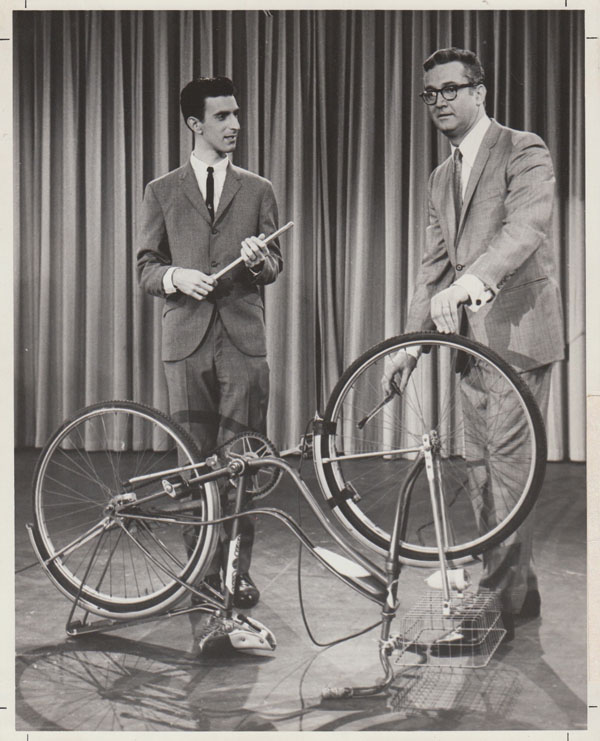 Frank Zappa – 1963 Photo of Zappa Playing Bicycle