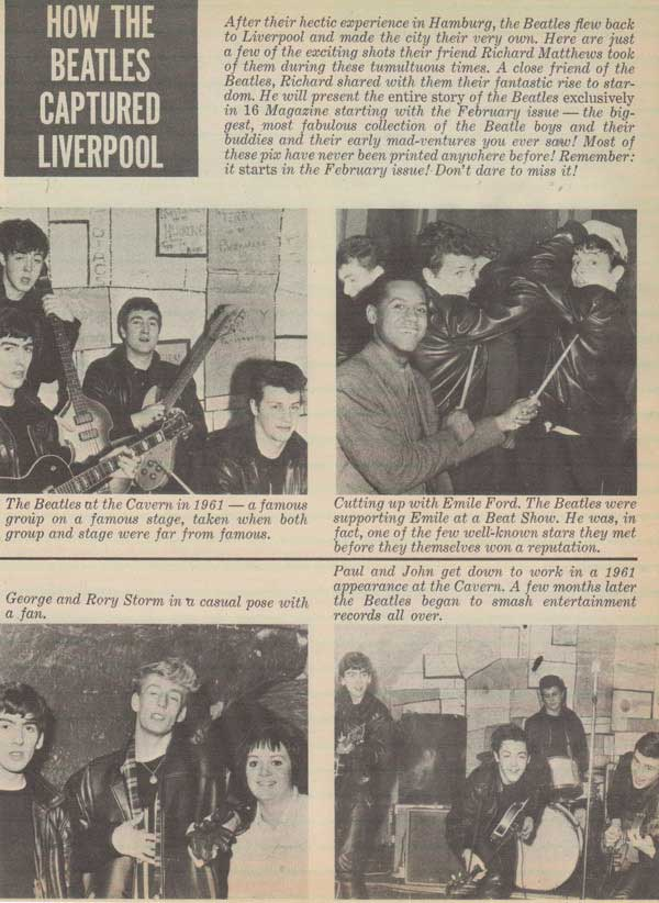 The Beatles – Original 1961 Pre-Fame Cavern Club Photograph