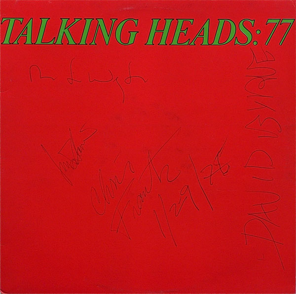Talking Heads 77 Talking Heads Fully Signed