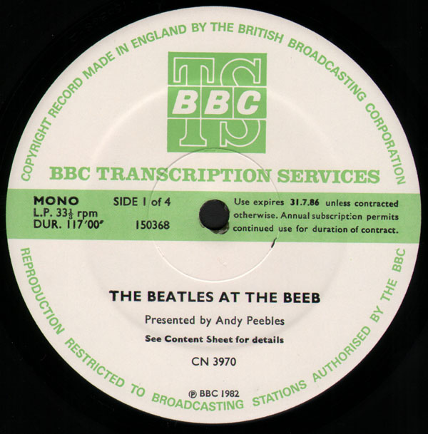 The Beatles – BBC Transcription Service Beatles At The Beeb 2 LP Set
