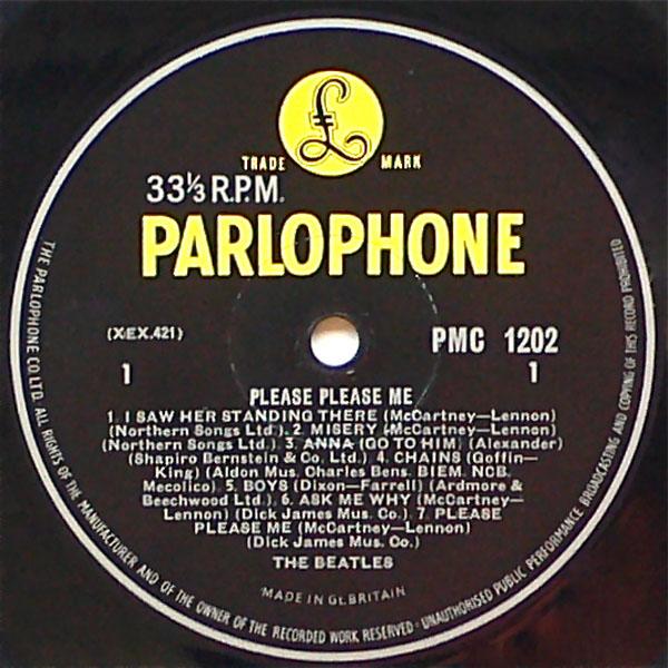The Beatles 1963 4th Pressing Please Please Me Lp